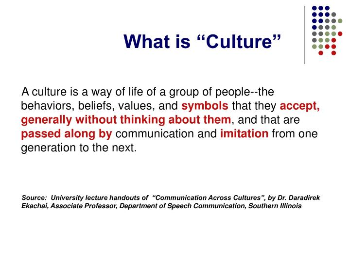 """What is """"Culture"""""""