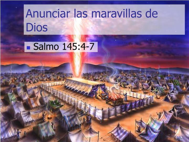 Anunciar las maravillas de Dios