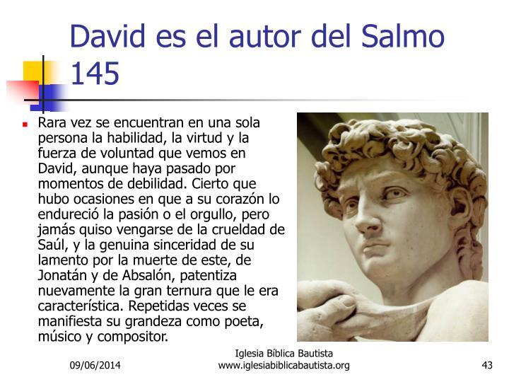 David es el autor del Salmo 145
