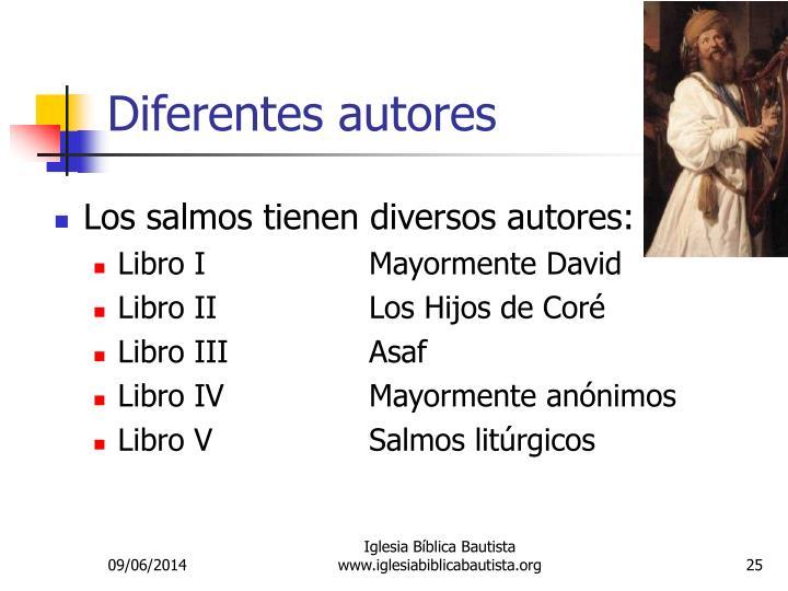 Diferentes autores
