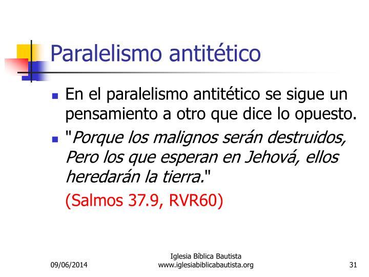 Paralelismo antitético