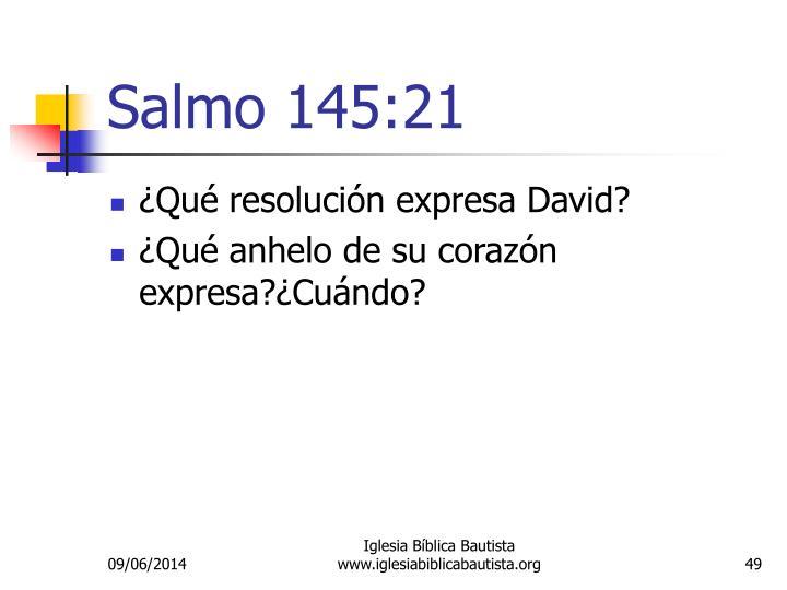 Salmo 145:21