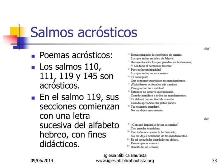 Salmos acrósticos