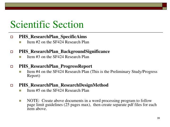 Scientific Section