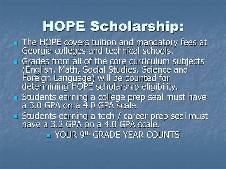 HOPE Scholarship: