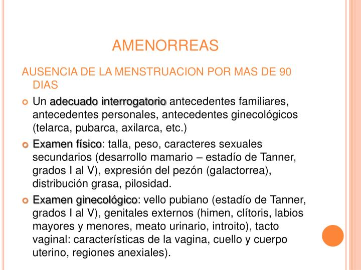 AMENORREAS