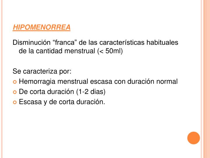 hipomenorrea