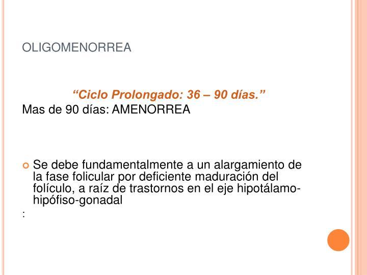 oligomenorrea
