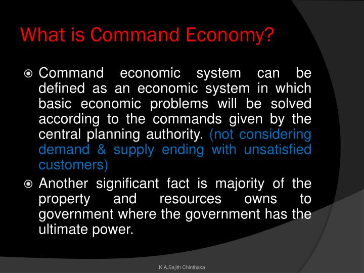 What is command economy