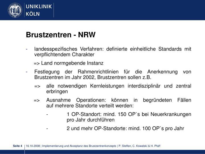 Brustzentren - NRW