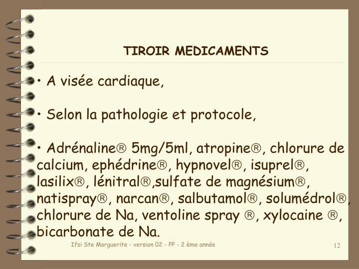 TIROIR MEDICAMENTS