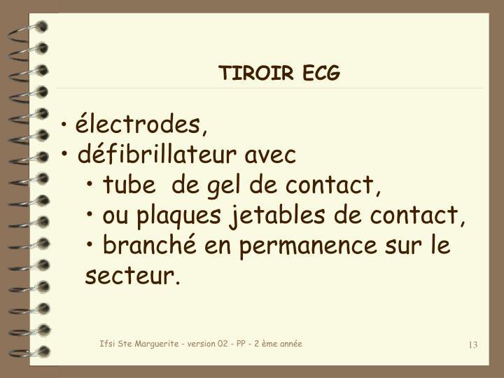 TIROIR ECG