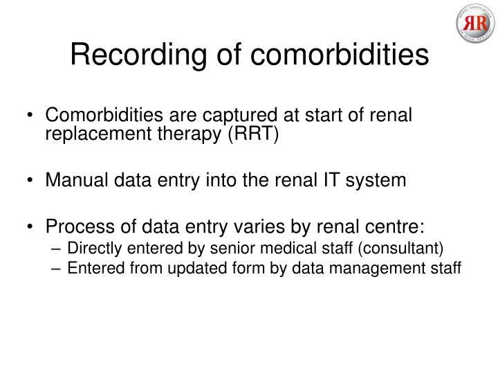 Recording of comorbidities