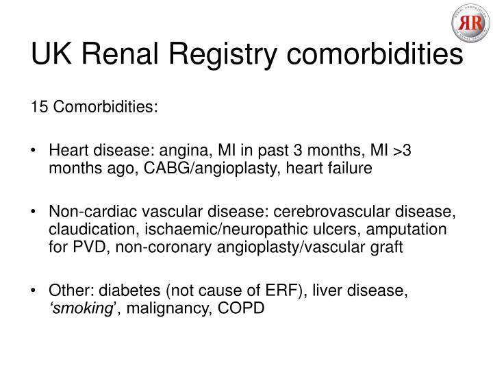 UK Renal Registry comorbidities