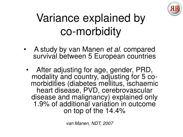 Variance explained by