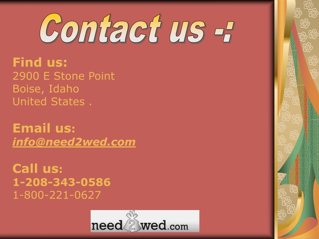Contact us -: