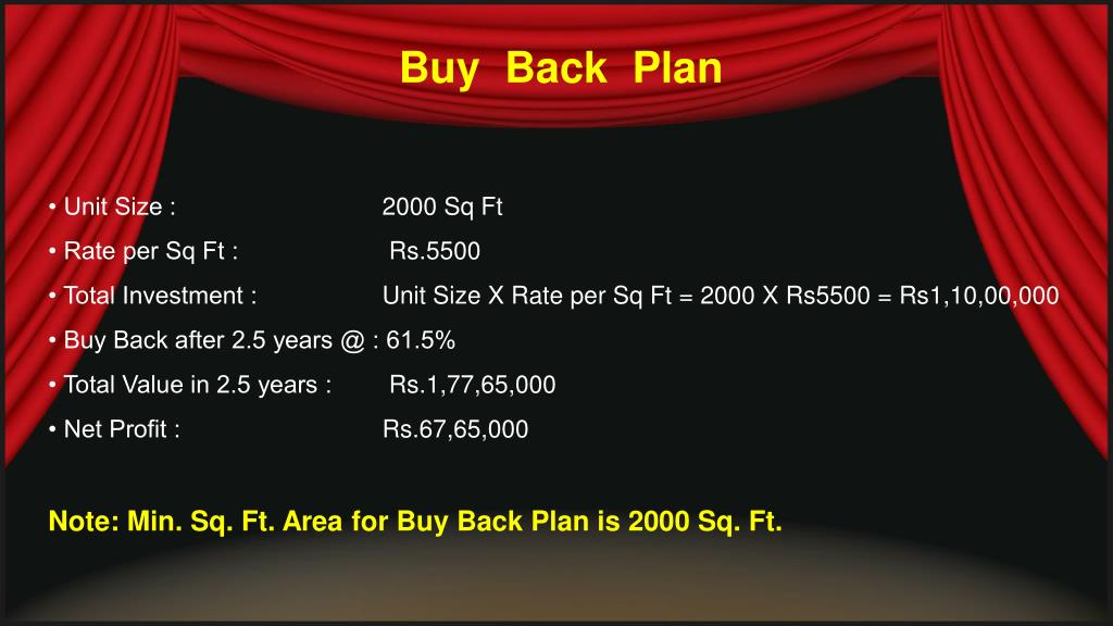 Buy  Back  Plan