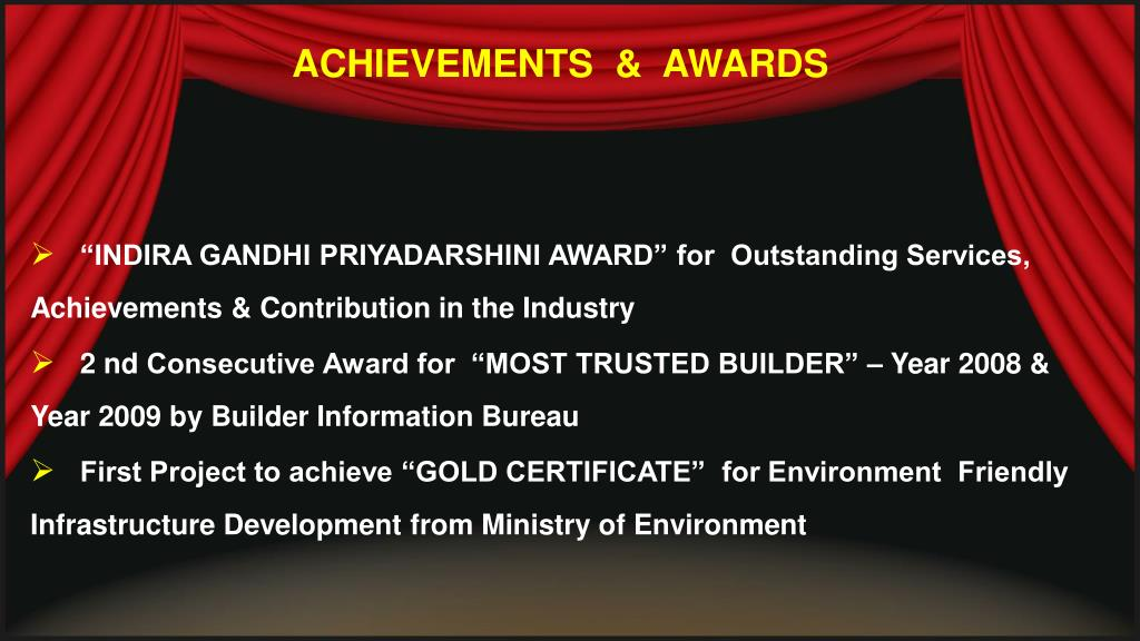 ACHIEVEMENTS  &  AWARDS