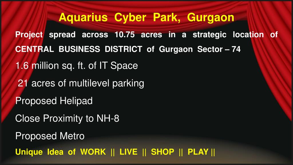 Aquarius  Cyber  Park,  Gurgaon