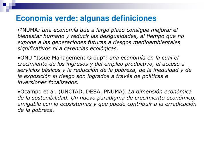 Economia verde: algunas definiciones