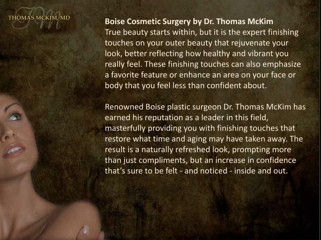 Boise Cosmetic Surgery by Dr. Thomas McKim