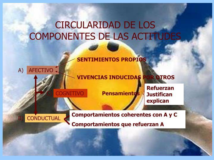CIRCULARIDAD DE LOS COMPONENTES DE LAS ACTITUDES