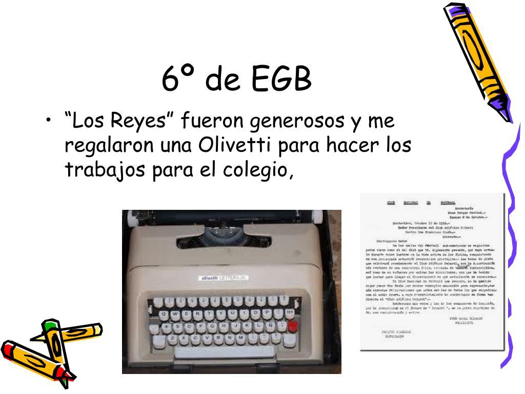 6º de EGB