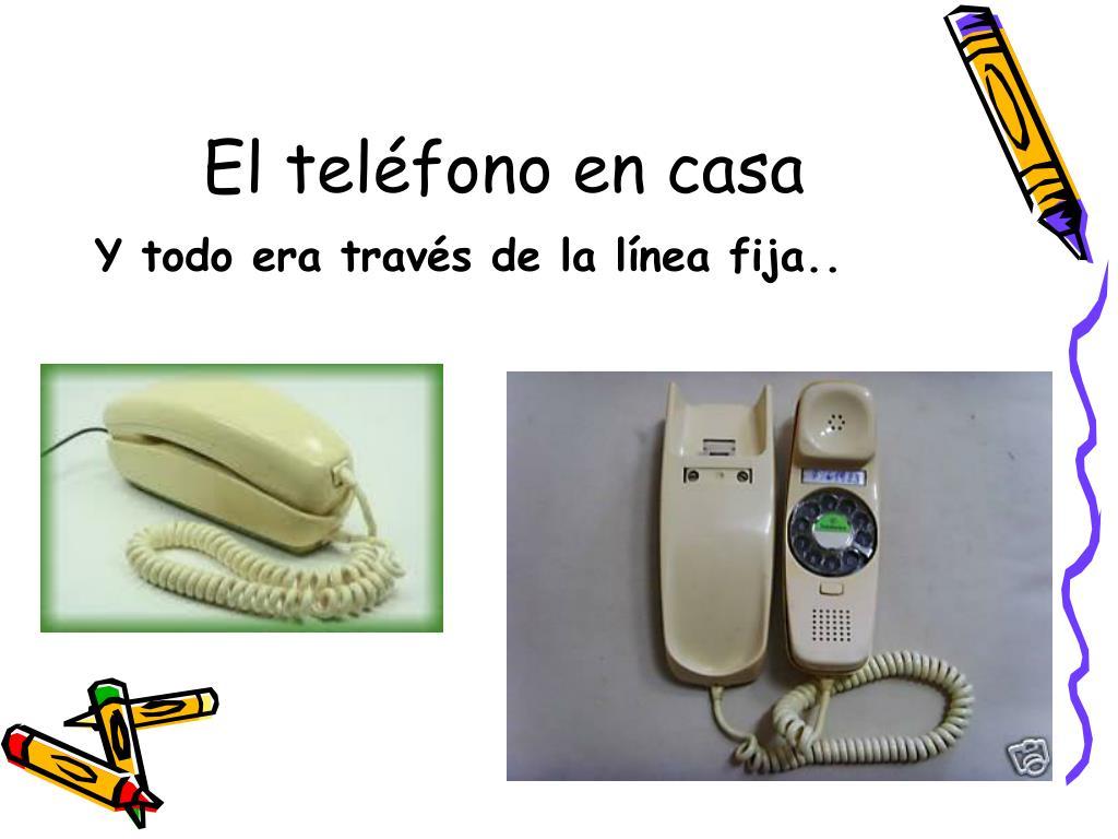 El teléfono en casa