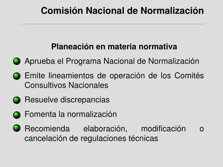 Comisión Nacional de Normalización