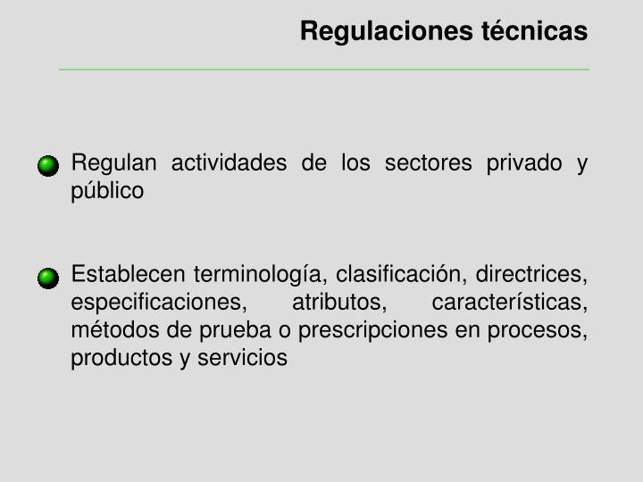 Regulaciones técnicas