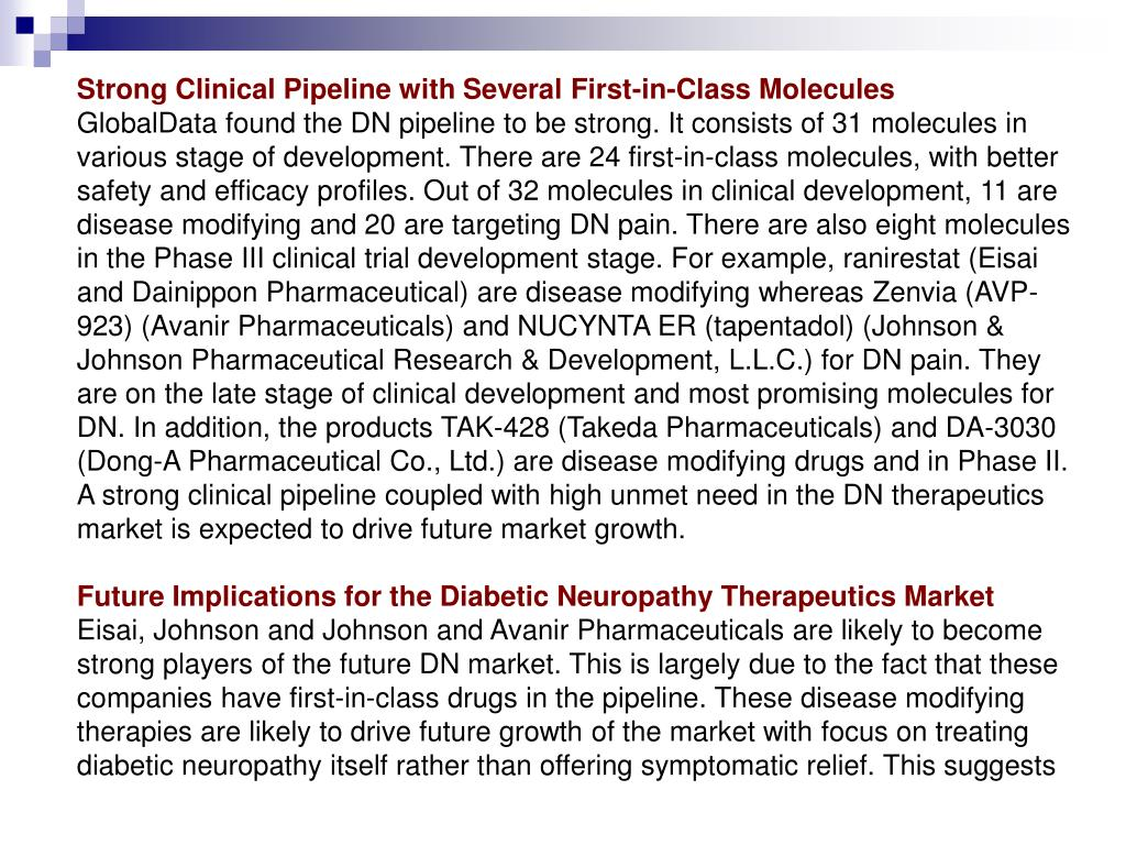 Strong Clinical Pipeline with Several First-in-Class Molecules