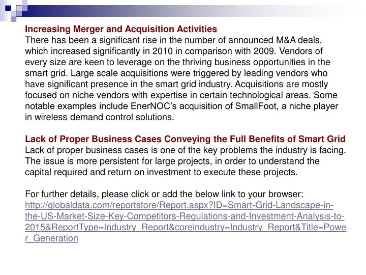 Increasing Merger and Acquisition Activities