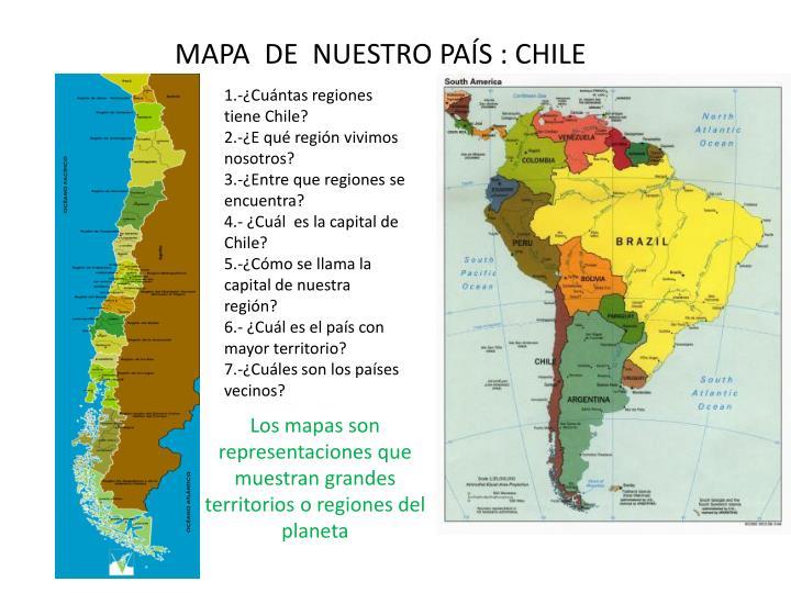 MAPA  DE  NUESTRO PAÍS : CHILE