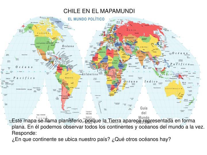 CHILE EN EL MAPAMUNDI