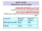 molecules and formulas