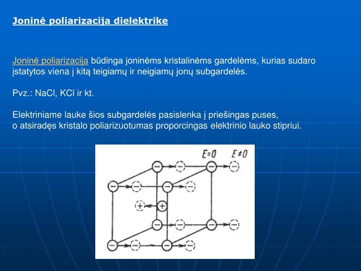 Joninė poliarizacija dielektrike