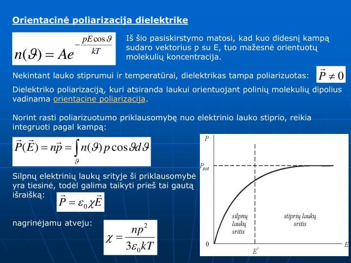 Orientacinė poliarizacija dielektrike