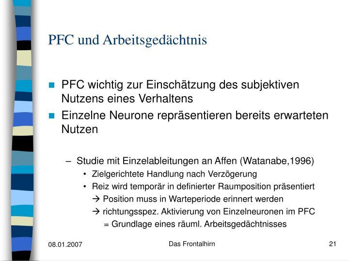 PFC und Arbeitsgedächtnis