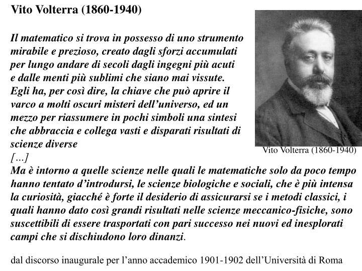 Vito Volterra (1860-1940)
