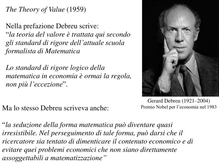 The Theory of Value