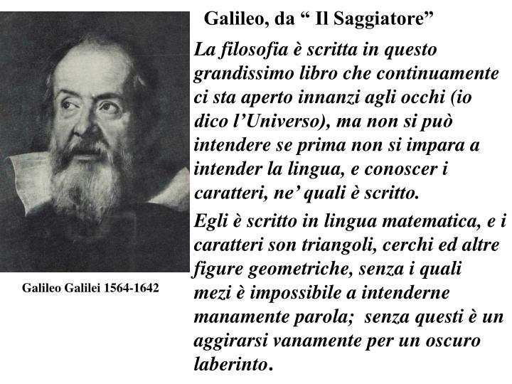 """Galileo, da """" Il Saggiatore"""""""