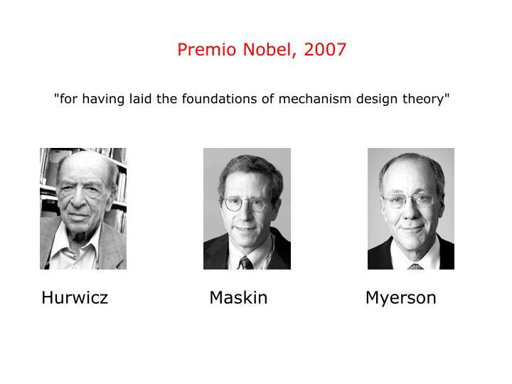 Premio Nobel, 2007