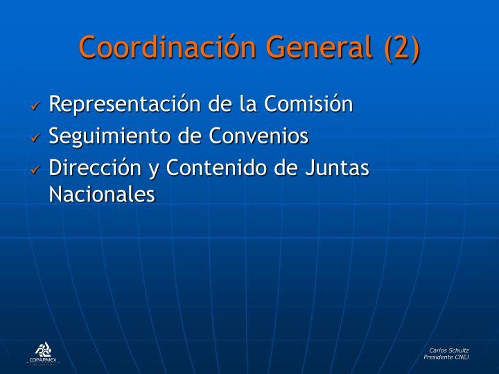 Coordinación General (2)