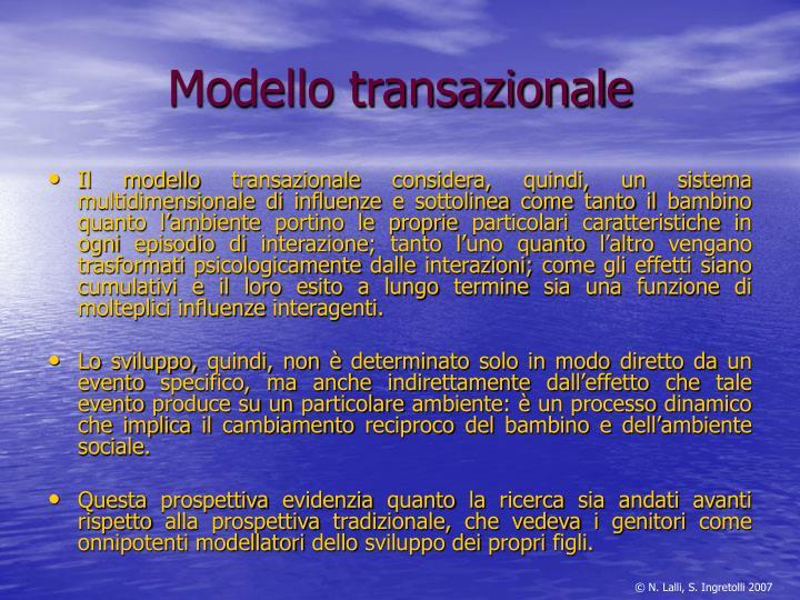 Modello transazionale