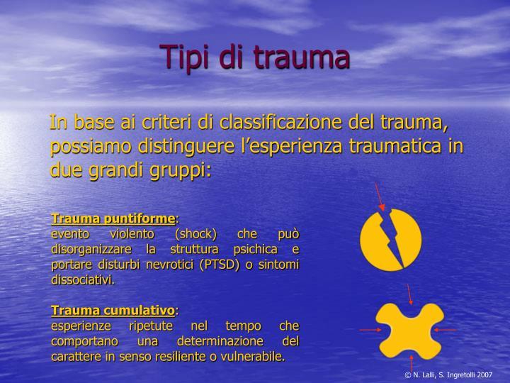 Tipi di trauma