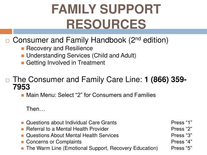 FAMILY SUPPORT RESOURCES