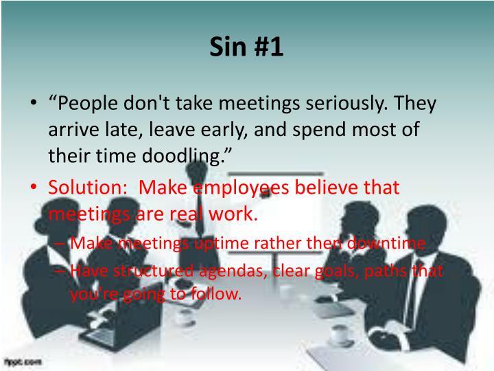 Sin #1