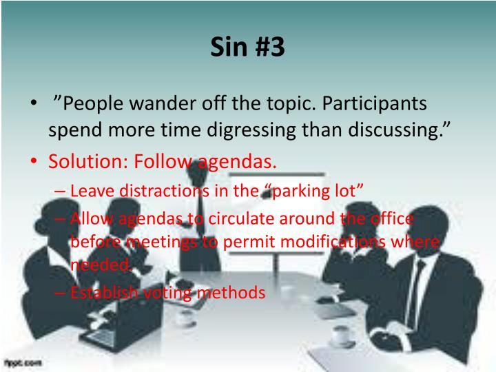 Sin #3