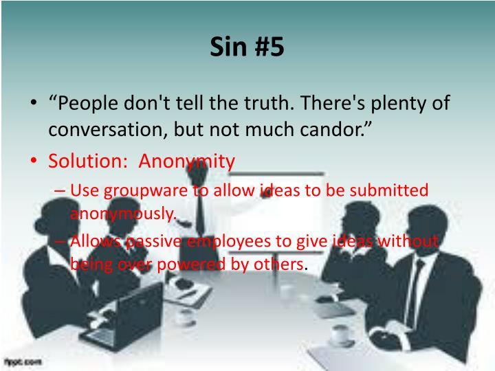 Sin #5