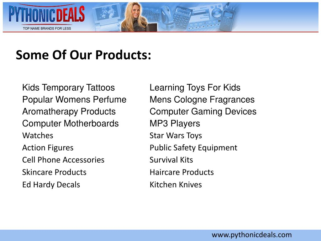 Some Of Our Products: